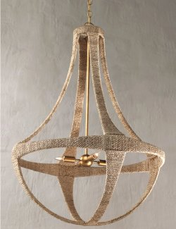 Abaca Panache Beach House Chandelier - Nautical Luxuries