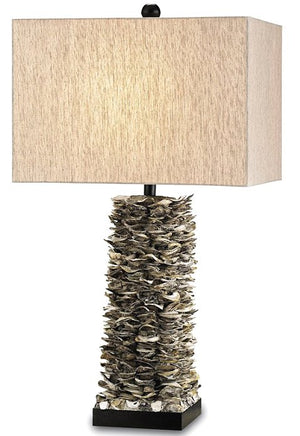 Oyster Strata Table Lamp - Nautical Luxuries