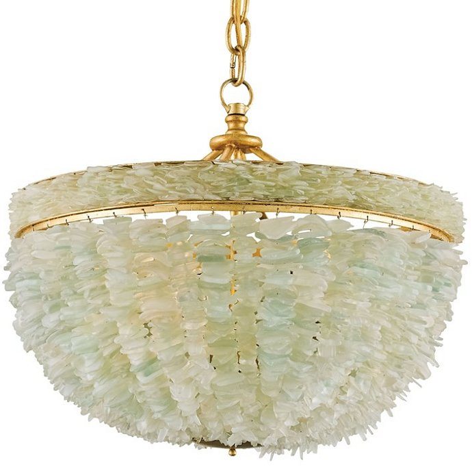 Sea Glass Elegance Coastal Chandelier - Nautical Luxuries