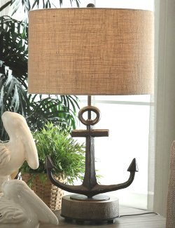 Rustic Anchor Table Lamp