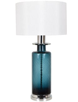 Midnight Ocean Glass Table Lamp