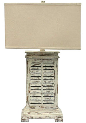 Key Largo Weathered Shutter Lamp - Nautical Luxuries
