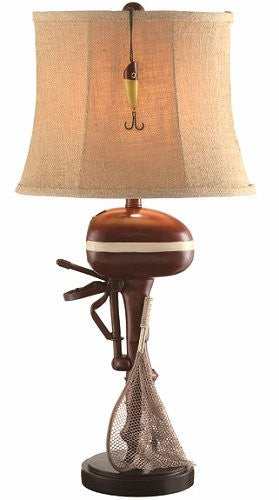 Vintage Outboard Lake House Lamp - Nautical Luxuries