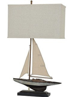 Weathered Sailing Sloop Table Lamp