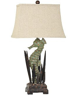 Sea Grass Seahorse Table Lamp