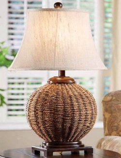 Tradewinds Woven Wicker Table Lamp
