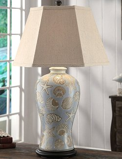Sanibel Shells Beach House Table Lamp - Nautical Luxuries