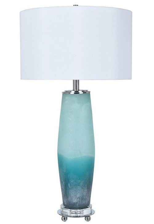 Frosted Sea Glass Table Lamp