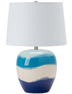 Sand & Sea Ceramic Table Lamp - Nautical Luxuries