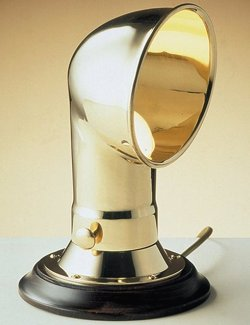 Polished Brass Cowl Vent Accent Lamp