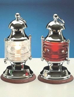 Polished Chrome Ship's Lantern Lights