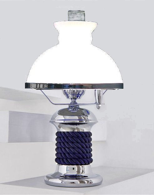 traditional desk lamp with nautical winch design