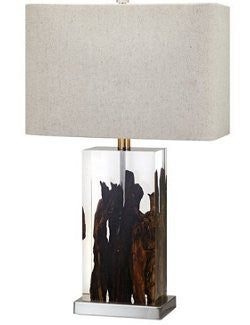 Floating Driftwood Table Lamp