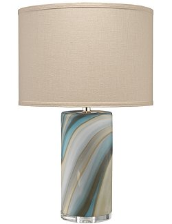 Sand & Sea Matte Glass Table Lamp - Nautical Luxuries