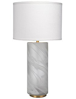 Waterspout Mist Handblown Glass Table Lamp - Nautical Luxuries