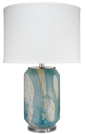 Whitewater Splash Glass Table Lamp - Nautical Luxuries