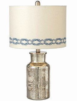 Weathered Silver Base Nautical Knot Lamp