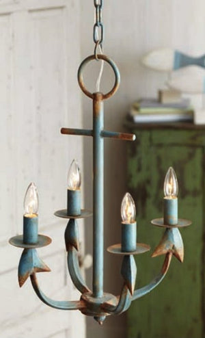 Rustic Anchor Beach House Chandelier - Nautical Luxuries