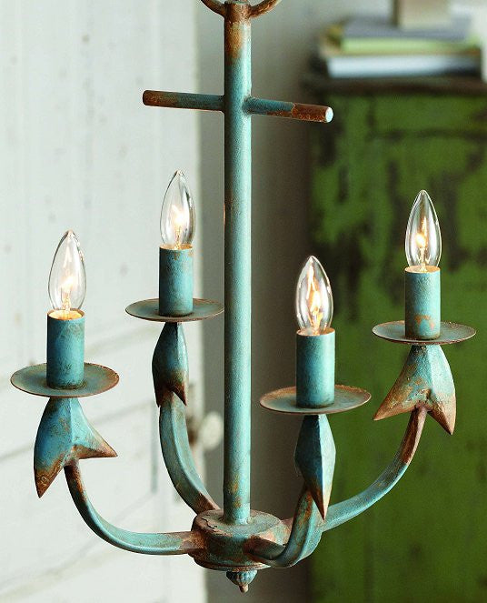 Rustic Anchor Beach House Chandelier Nautical Luxuries