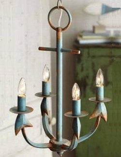 Rustic Anchor Beach House Chandelier