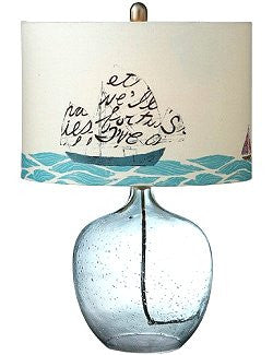 Message In A Bottle Beach House Lamp - Nautical Luxuries
