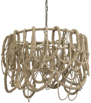 In The Rigging Abaca Rope Chandelier - Nautical Luxuries