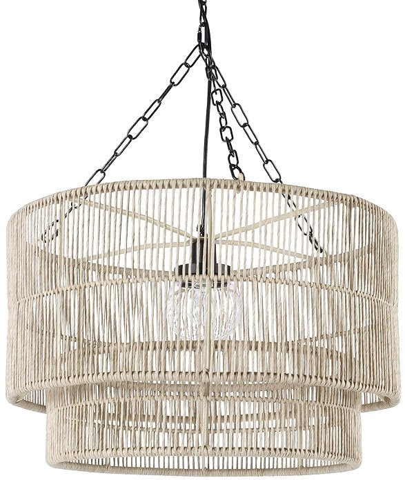 Indoor/Outdoor Open Weave Drum Pendants - Nautical Luxuries