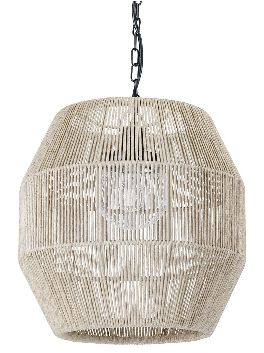 Indoor/Outdoor Open Weave Barrel Pendants - Nautical Luxuries