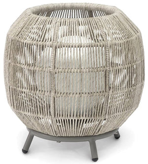 Indoor/Outdoor Open Weave Sphere Lamps - Nautical Luxuries