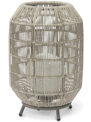 Indoor/Outdoor Open Weave Barrel Lamp - Nautical Luxuries