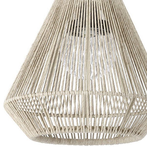 Indoor/Outdoor Open Weave Tapered Pendants - Nautical Luxuries
