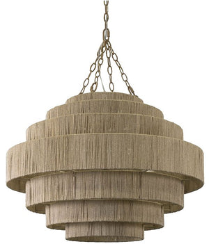 Abaca Fiber Waterfall Pendants - Nautical Luxuries