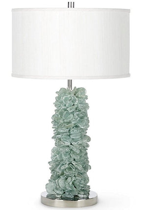 Stacked Sea Glass Table Lamp - Nautical Luxuries