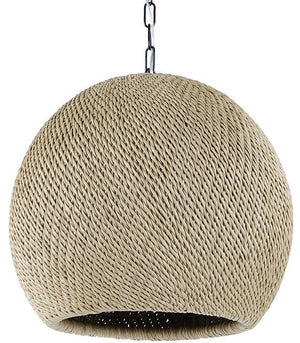 Indoor/Outdoor Wicker Weave Pendants - Nautical Luxuries