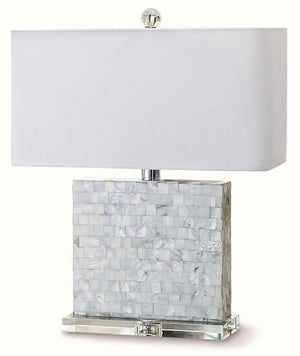 Contempo Mother Of Pearl Lamp - Nautical Luxuries