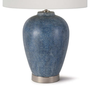 Indigo Shagreen Table Lamp - Nautical Luxuries