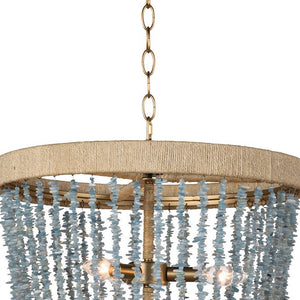 Beach Glass Strands Chandelier - Nautical Luxuries