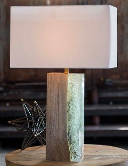 Sea Wall Wood Table Lamp - Nautical Luxuries