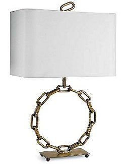 Motoryacht Metal Anchor Chain Table Lamp
