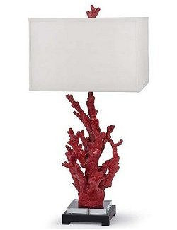 Exotic Red Coral Table Lamp