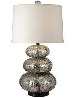 Platinum Sheen Sea Urchin Table Lamp