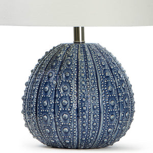 Sanibel Sea Urchin Ceramic Accent Lamp Deep Blue - Nautical Luxuries