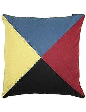 Z Signal Flag Euro Pillow Sham Cover - Nautical Luxuries
