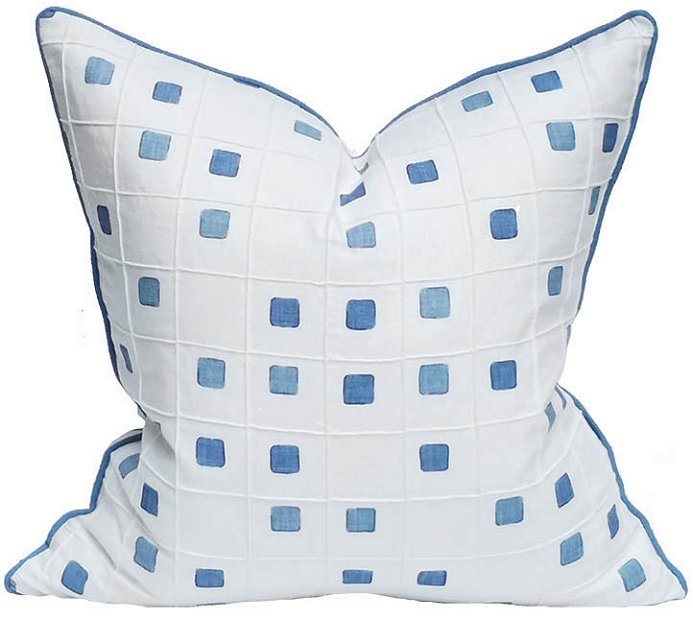 Blue Chip Linen Coastal Lifestyle Pillow - Nautical Luxuries