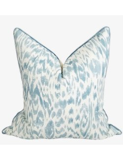 Spa Linen Wild Ikat Pillow - Nautical Luxuries