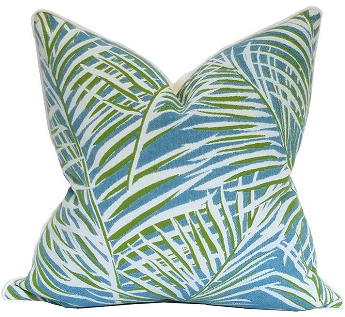 Biscayne Breeze Palms Outdoor Pillow - Nautical Luxuries