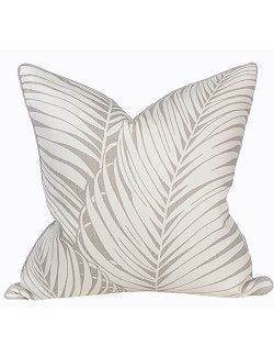 Driftwood Gray Palms Pillow - Nautical Luxuries