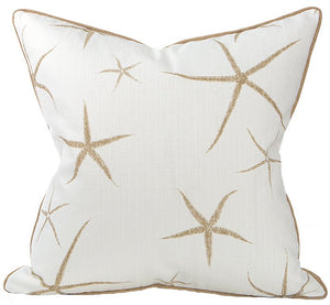 Sandy Starfish Coastal Lifestyle Pillow - Nautical Luxuries