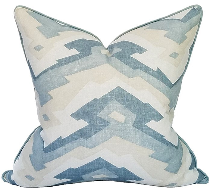 Mineral Springs Abstract Linen Viscose Pillow - Nautical Luxuries