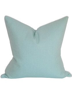 Aqua Corded Solid Outdoor Pillow - Nautical Luxuries